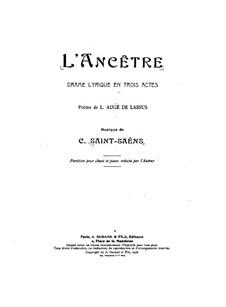 Vorfahr: Klavierauszug mit Singstimmen by Camille Saint-Saëns