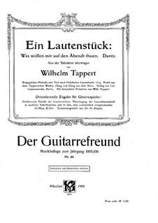 Ein Lautenstück: Bearbeitung für Stimme und Gitarre by Wilhelm Tappert