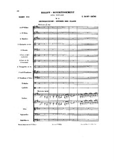 Henry VIII: Ballet Divertissement by Camille Saint-Saëns