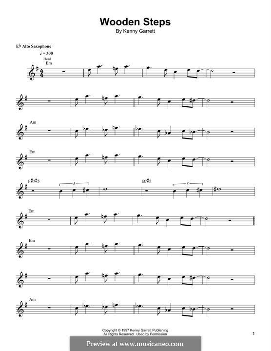 Wooden Steps: Für Altsaxophon by Kenny Garrett