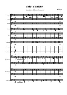 Liebesgruss, Op.12: For large ensemble by Edward Elgar
