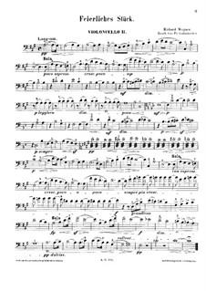 Feierliches Stuck nach dem Zuge zum Munster: Für vier Cellos – Cellostimme II by Richard Wagner