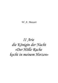 Der Hölle Rache kocht in meinem Herzen: For voice and string orchestra by Wolfgang Amadeus Mozart