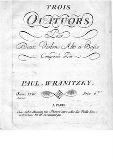 Sechs Streichquartette, Op.23: Quartette Nr.1-3 – Violinstimme II by Paul Wranitzky