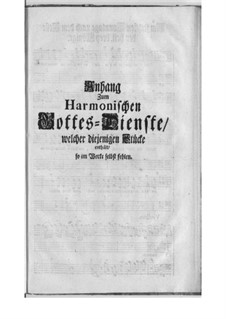 Harmonischer Gottesdienst: Supplement by Georg Philipp Telemann