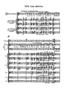 Messa da Requiem: No.6 Lux æterna by Giuseppe Verdi