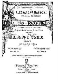 Messa da Requiem: Für Klavier by Giuseppe Verdi