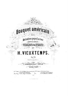 Bouquet Américain, Op.33: No.1-3 – Score by Henri Vieuxtemps