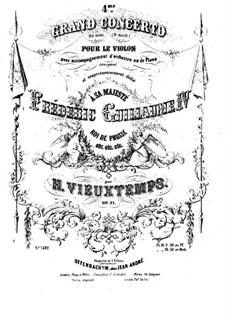 Violinkonzert Nr.4, Op.31: Solostimme by Henri Vieuxtemps