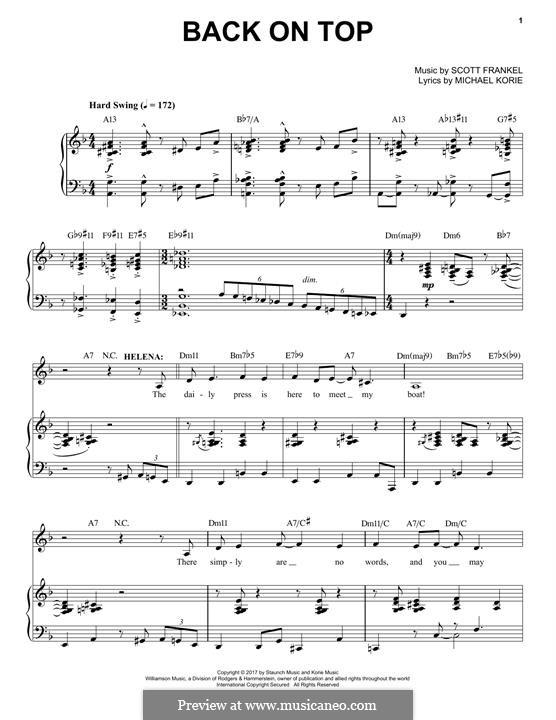 Back on Top: Für Stimme und Klavier by Scott Frankel
