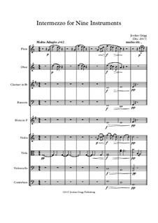 Intermezzo for Nine Instruments: Intermezzo for Nine Instruments by Jordan Grigg