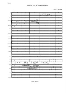 The Changing Wind for band: The Changing Wind for band by Gary Mosse