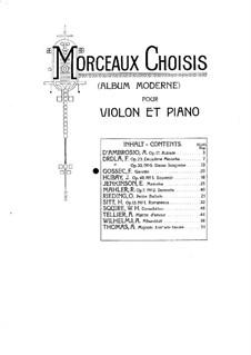 Gavotte in D-Dur: Für Violine und Klavier by François Joseph Gossec