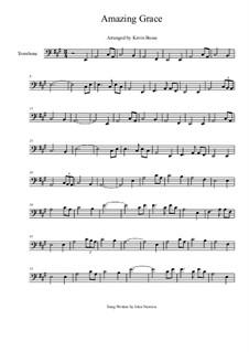 Erstaunliche Gnade, für Ein Instrument: For trombone by folklore