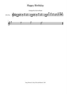 Zum Geburtstag viel Glück: Für Altsaxophon by Mildred Hill