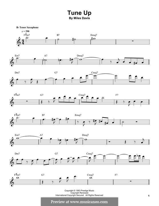 Tune Up: Für Tenorsaxophon by Miles Davis