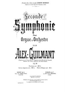 Sinfonie Nr.2 in A-Dur für Orgel und Orchester, Op.91: Teile I-II by Alexandre Guilmant