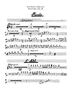 Vollständiger Ballett: Pikkoloflötenstimme by Pjotr Tschaikowski