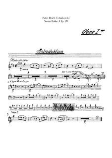 Vollständiger Ballett: Oboenstimmen by Pjotr Tschaikowski