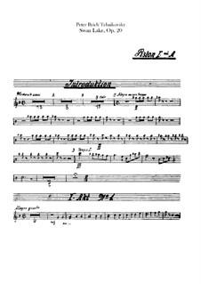 Vollständiger Ballett: Kornettenstimmen by Pjotr Tschaikowski