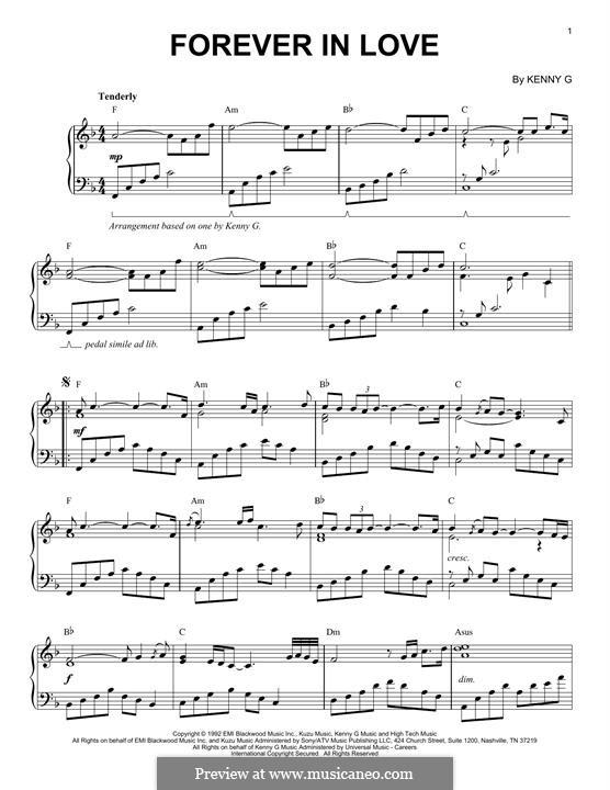 Forever in Love: Für Klavier by Kenny G.