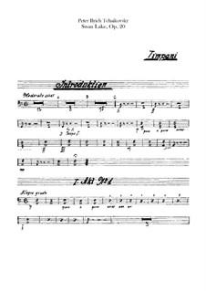 Vollständiger Ballett: Paukenstimme by Pjotr Tschaikowski