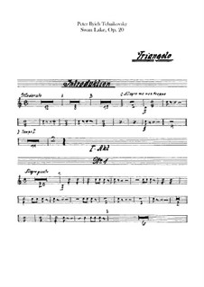 Vollständiger Ballett: Schlagzeugstimmen by Pjotr Tschaikowski