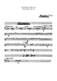 Vollständiger Ballett: Posaunen- und Tubastimmen by Pjotr Tschaikowski