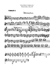 Vollständiger Ballett: Violinstimmen I by Pjotr Tschaikowski