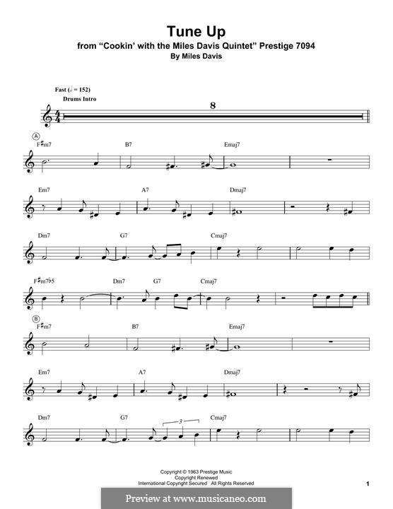 Tune Up: Für Trompete by Miles Davis
