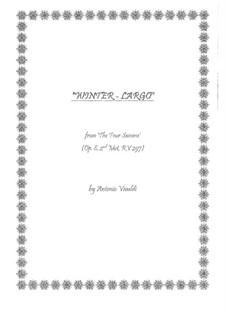 Violinkonzert Nr.4 in f-Moll 'Winter', RV 297: Movement II. Version for guitars by Antonio Vivaldi