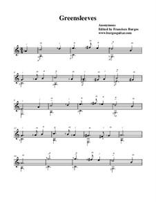 Greensleeves: Für Gitarre by folklore