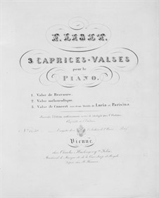 Trois Caprices-Valses, S.214: Vollsammlung by Franz Liszt
