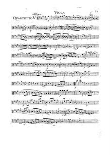 Streichquartett Nr.18 in A-Dur, K.464: Bratschenstimme by Wolfgang Amadeus Mozart