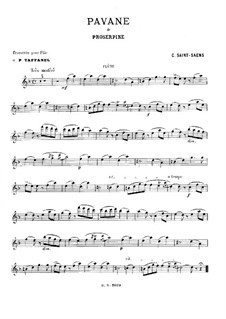 Proserpine: Pavane, for Flute and Piano by Camille Saint-Saëns