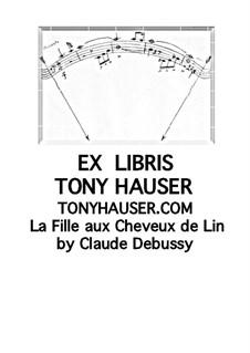 Nr.8 Das Mädchen mit dem flachsfarbenen Haar: Bearbeitung für Gitarre by Claude Debussy