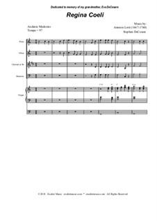 Regina Coeli: For woodwind quartet by Antonio Lotti