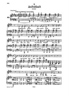 Nr.5 Aufenthalt: Für Stimme und Klavier by Franz Schubert