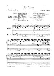 Der Schwan: Für Orgel by Camille Saint-Saëns