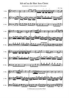 Ich ruf' zu dir, Herr Jesu Christ, BWV 639: For trio instruments by Johann Sebastian Bach