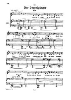 Nr.13 Der Doppelgänger: Für Stimme und Klavier by Franz Schubert