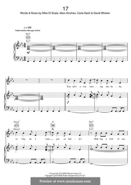 17 (MK): Für Stimme und Klavier (oder Gitarre) by Mike Di Scala, Carla Nash, David Whelan, Marc Kinchen
