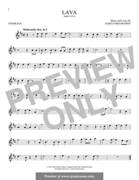 Lava: Für Tenorsaxophon by James Murphy