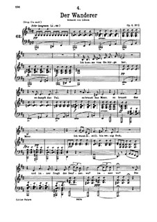 Der Wanderer, D.493 Op.4 No.1: Für Stimme und Klavier by Franz Schubert