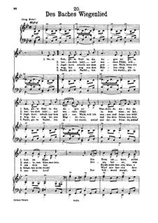 Nr.20 Des Baches Wiegenlied: Für Stimme und Klavier by Franz Schubert
