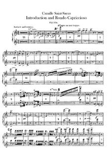 Introduktion und Rondo Capriccioso, Op.28: Flötenstimme I-II by Camille Saint-Saëns