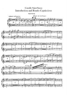 Introduktion und Rondo Capriccioso, Op.28: Oboenstimmen I-II by Camille Saint-Saëns