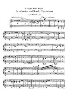 Introduktion und Rondo Capriccioso, Op.28: Klarinettenstimmen I-II by Camille Saint-Saëns