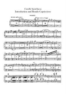 Introduktion und Rondo Capriccioso, Op.28: Fagottenstimmen I-II by Camille Saint-Saëns