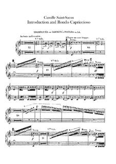 Introduktion und Rondo Capriccioso, Op.28: Trompete- und Kornettstimmen by Camille Saint-Saëns